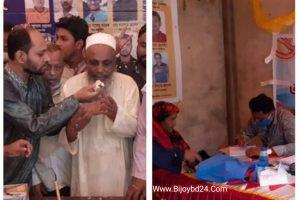 চৌদ্দগ্রামের সাতবাড়ীয়ায় দুই শতাধিক গরীব ও অসহায় রোগীকে বিনামূল্যে চিকিৎসাসেবা প্রদান