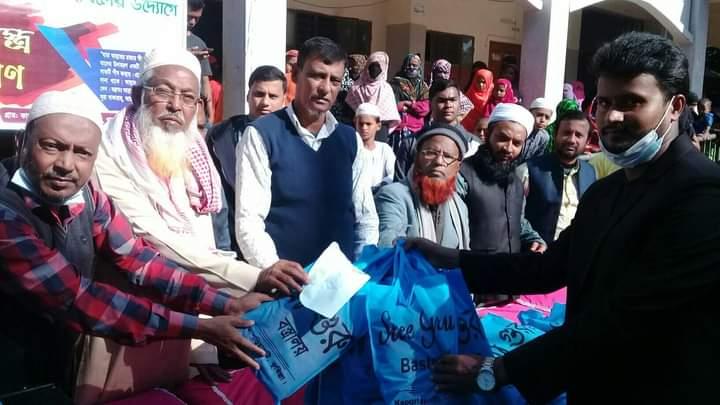 কাছারীপাড়া প্রবাসী সমাজকল্যাণ তহবিলের উদ্যোগে শীতবস্ত্র বিতরণ